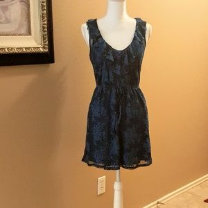 ⚘Cute blue lace dress